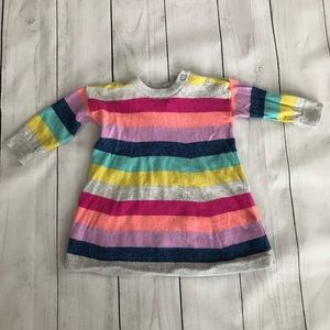 baby GAP Striped Sweater Knit Dress, 3-6 months
